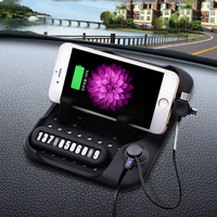 New Design Multi Functional Magnetic Charge Of Silicone Anti Slip Mat Car Navigation Mobile Phone USB