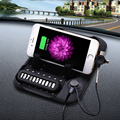 Universal Multi-functional Magnetic Charge Of Silicone Anti-Slip Mat Car Navigation Mobile Phone USB Charger With Parking Card