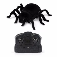 Infrared RC Wall Climbing Spider Kid Gift Toy Remote Control Tarantula Simulation Furry Electronic Spider Toy Halloween Surprise