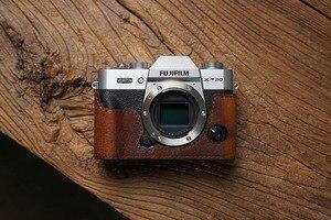 Image 3 - Fuji XT30 X T20 X T30 XT20 aparat Mr. Stone Handmade prawdziwy skórzany futerał do aparatu wideo pół torby aparat body