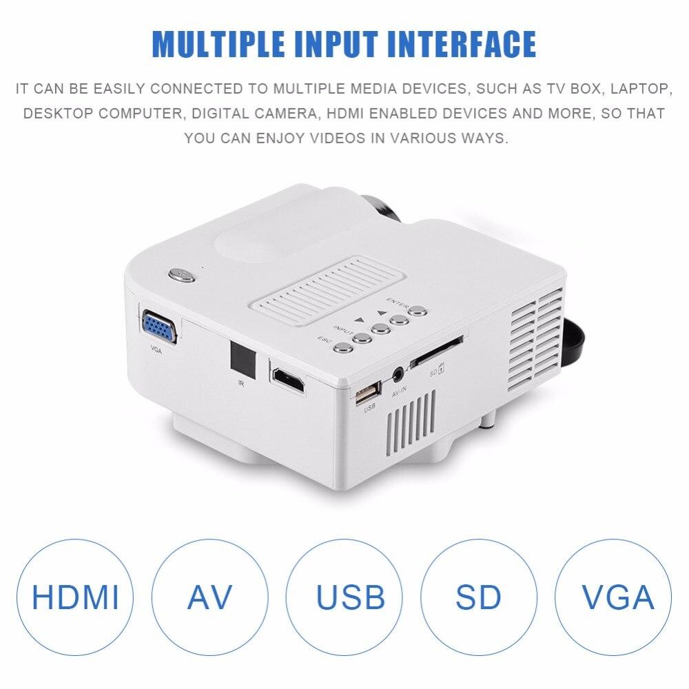 Mini Projecteur Home Cinéma Privé LED HD HDMI Projecteur Multiple Interface Media Player 1920x1080 P AV USB VG 24 w US Plug