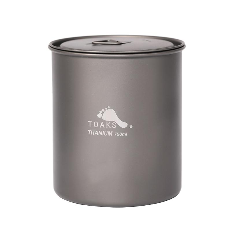 TOAKS Titanium Pot 750-NH Ultralight Camping Tableware Titanium Bowl Mug Outdoor Picnic Cooking Pot POT-750-NHTOAKS Titanium Pot 750-NH Ultralight Camping Tableware Titanium Bowl Mug Outdoor Picnic Cooking Pot POT-750-NH