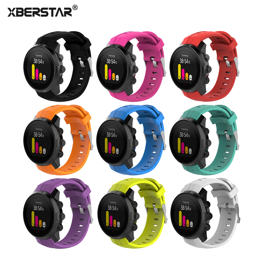 XBERSTAR Replacement Watchband Strap for Suunto Spartan Sport Series Multisport GPS Watch Silicone Wrist Band for