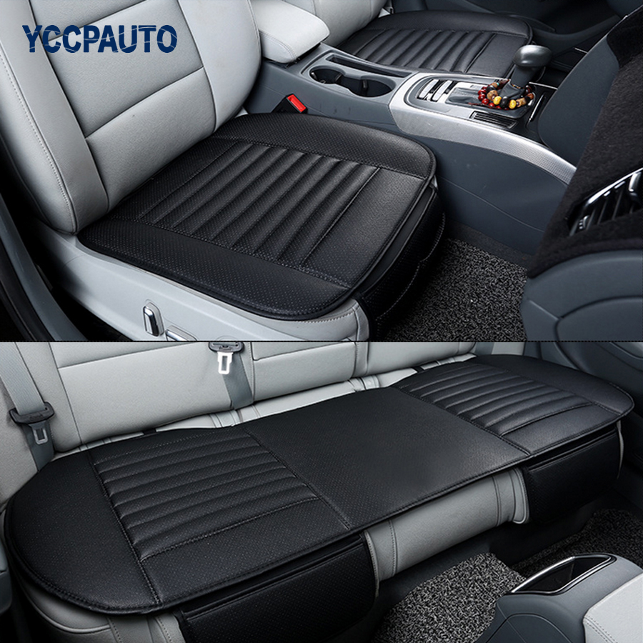 Car Seat Cover Styling Four Seasons Leather Breathable Car font b Interior b font Seat Protective