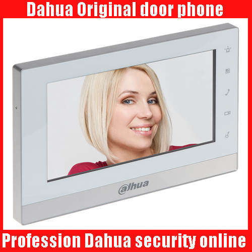 Dahua logo english version VTH1550CH Indoor Monitor 7inch 800X480 Resilution Touch Screen Color IP Video Intercom