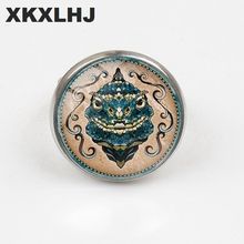 XKXLHJ Fashion Explosion Models Andreas Preis Animal Art Pattern Ring 2 Color / Men And Women Jewelry Gift