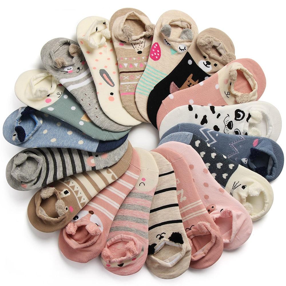 1 Pair 3D Lovely Women Girls Soft Ankle Harajuku   Socks   Cute Cartoon Animal Cotton Warm   Socks   Ankle Sox Low Cut   Sock