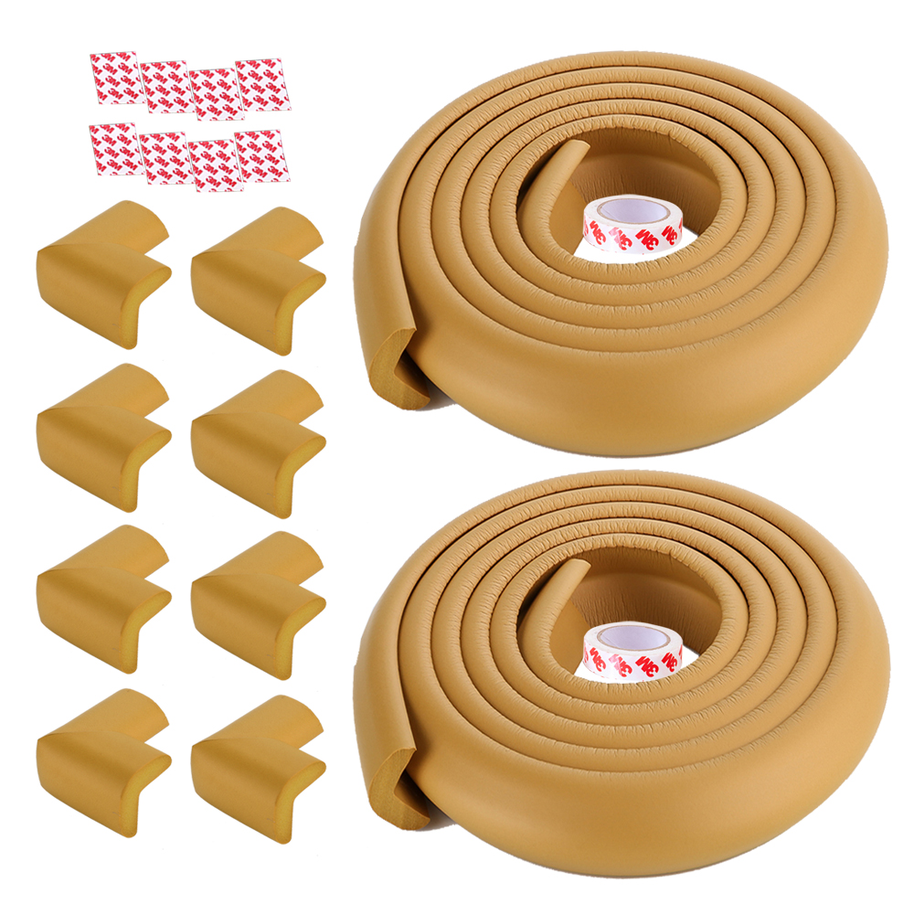 10pcs Soft Foam Bed Corner Desk Corner Guard Cushion Multipurpose Furniture Corner Guard in Black