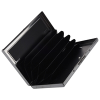10pcs( ABDB Waterproof Aluminum Pocket Wallet Business Credit Card Portable Holder Case Black