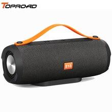 TOPROAD altavoz inalámbrico con Bluetooth para exteriores, altavoz estéreo con Subwoofer fuerte, compatible con TF, FM, USB, para teléfono y PC