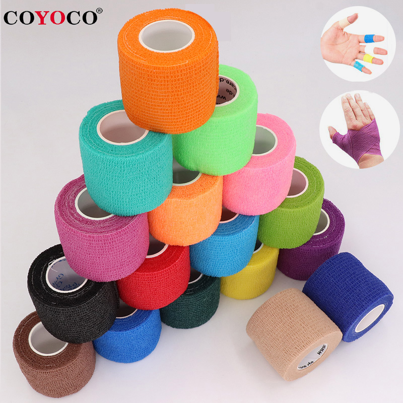 COYOCO Colorful Sport Self Adhesive Elastic Bandage Wrap Tape 4.5m Elastoplast For Knee Support Pads Finger Ankle Palm Shoulder(China)