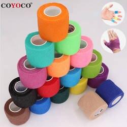 COYOCO Красочные бинты Спорт Self самоклеящийся эластичный бандаж обёрточная бумага клейкие ленты 4,5 м эластопласт для защ
