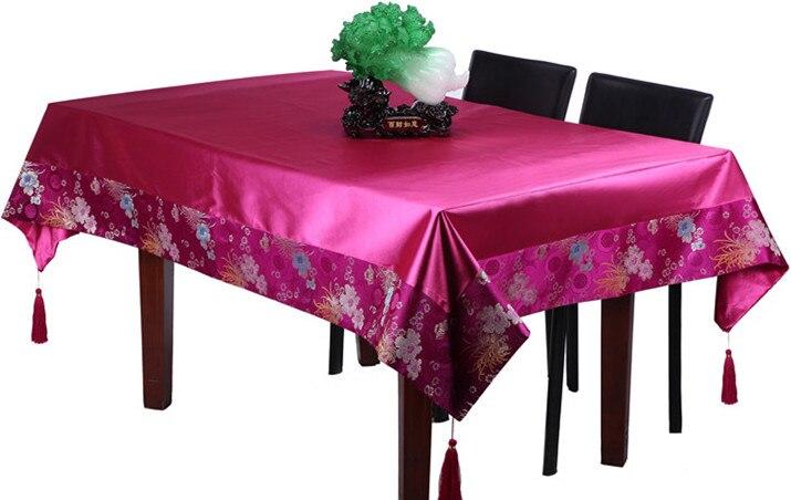Običan patchwork tapiserija kineski ukrasni stolnjak pravokutni - Tekstil za kućanstvo - Foto 5