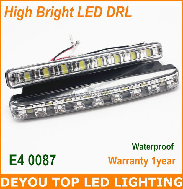 High quality 5050SMD 8led  LED Daytime Running Lights  High bright LED DRL 100% waterproof  1 year warranty  LED Car Fog lights