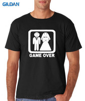 Cotton T Shirt Printed T Shirt Gildan Crew Neck Short Sleeve Compression Game Over Funny Night