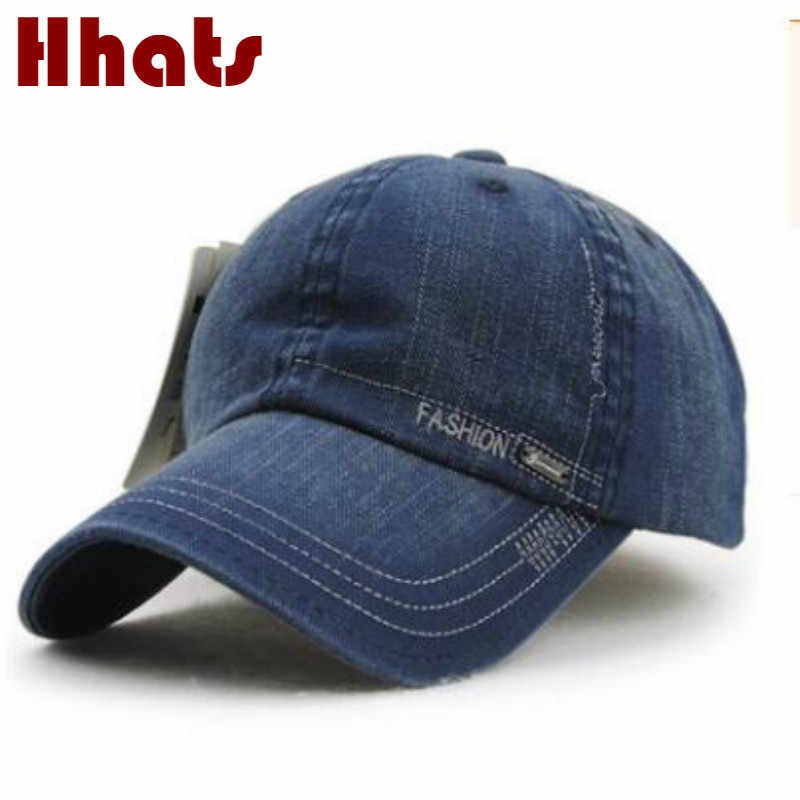 9c937abcdb768 which in shower high quality vintage denim baseball cap for women and men  adjustable retro jean