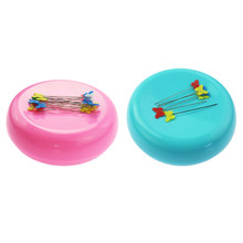 2 Pieces Plastic Magnetic Sewing Pin Cushion Holder Needle Organizer for DIY Needlework(China)