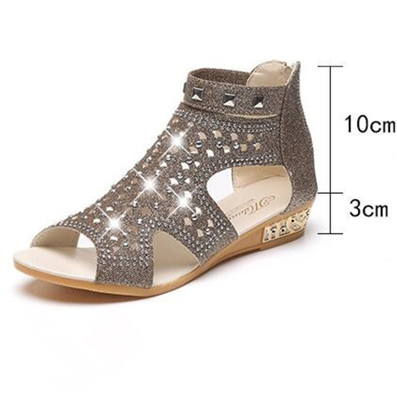 Sandals Women Sandalia Feminina 2018 New Casual Rome Summer Shoes Fashion Rivet Gladiator Sandals Women Sandalia Mujer 36 41 in Middle Heels from Shoes
