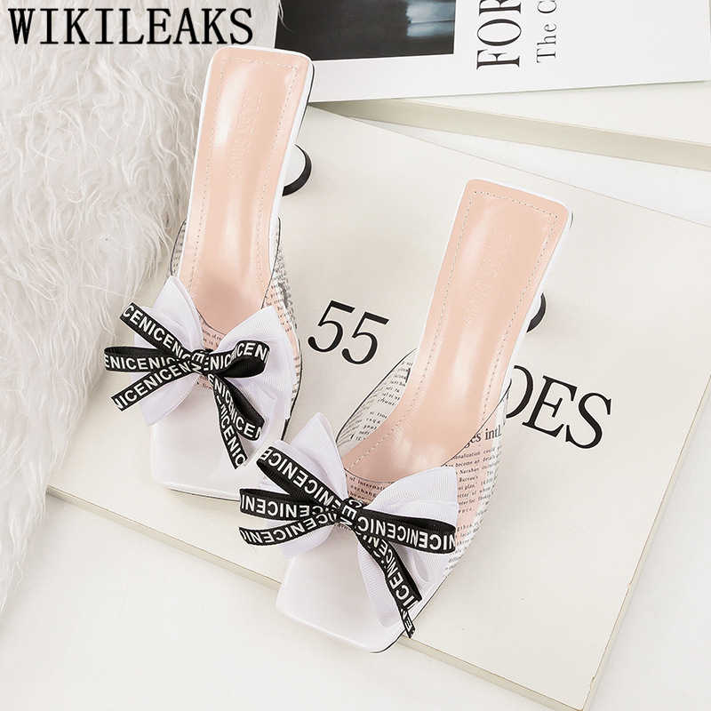 Yüksek topuklu terlik ayakkabı kadın seksi şeffaf ayakkabı kadın sandalet 2019 yaz açık sandalet zarif ayakkabı lüks terlik