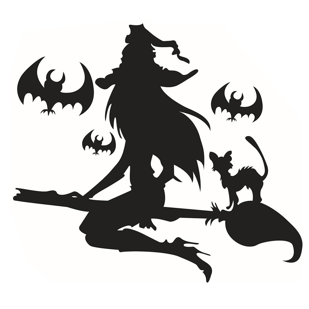 Halloween Dekoration 3D Gefälschte Fenster Wandaufkleber Nacht ...