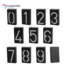 New Arrival Solar Power Number LED Light Sign House Hotel Door Address Plaque Mailbox Digit Plate Solar Wall Door Lamp(China)
