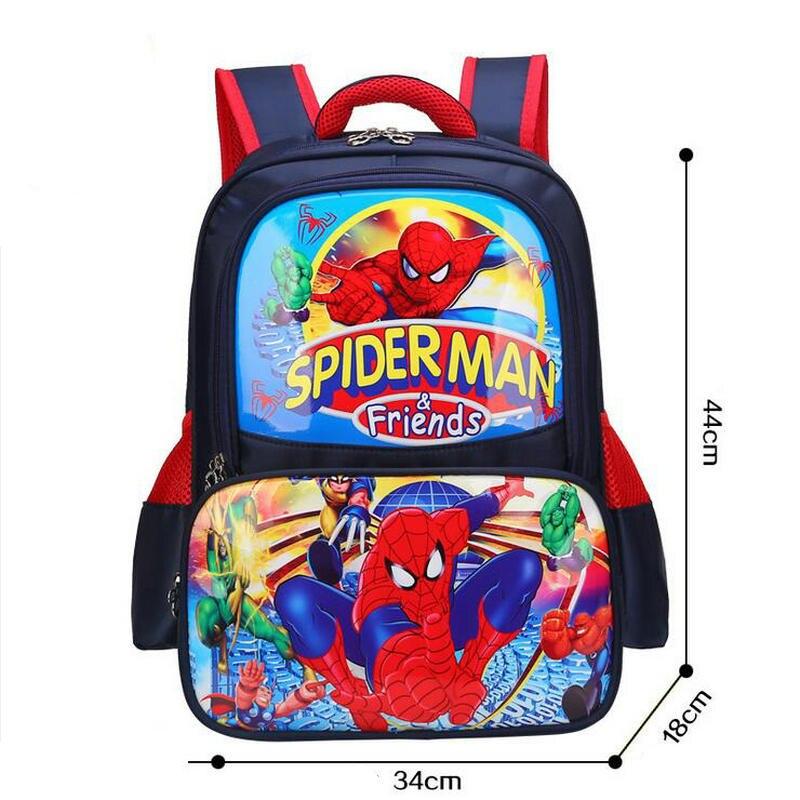 New Children Cartoon Princess School Bag for Boys Girls Backpack Spiderman High Quality Shoulder Bag Kid Orthopedic Backpacks