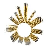 99pcs Manual Twist Titanium Coated High Speed Steel Drill Bits Set HSS4241 Hand Tool 1 5mm