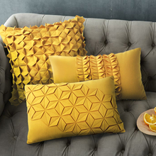 Morden Yellow/blue Cushion Art Decorative pillow creative Geometric Pattern solid Cushions Home Decor Sofa Throw Pillow