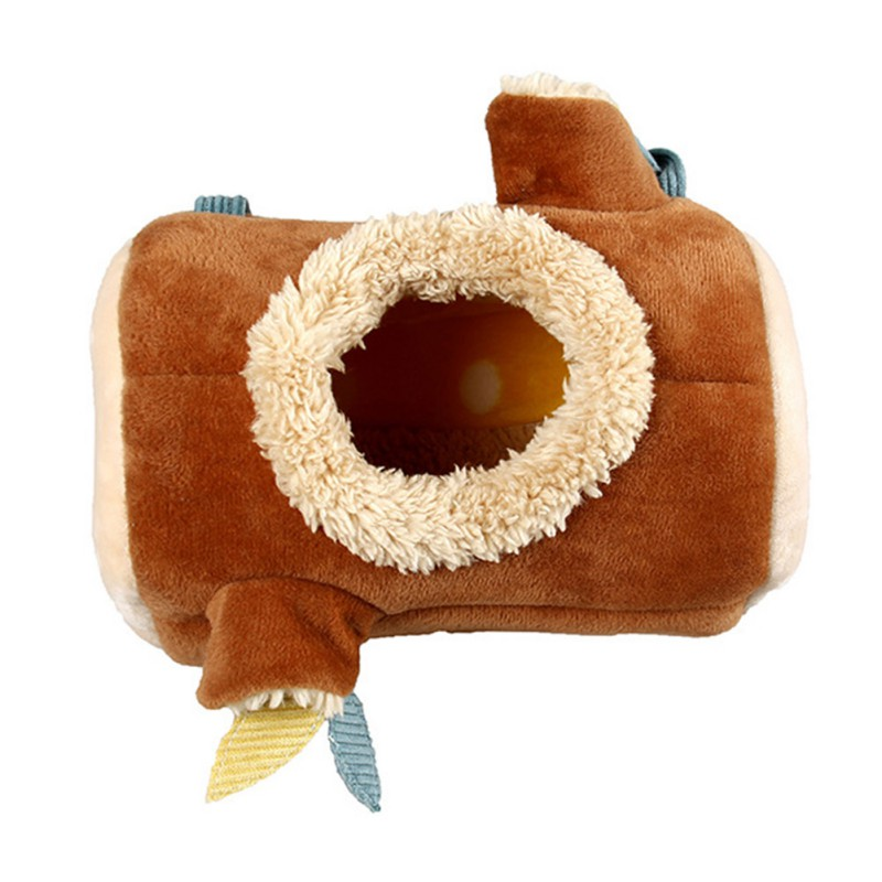 Plush Stump Hamster Tunnel Hammock Hanging Nest Soft House Bed Cage For Mini Animal Small font