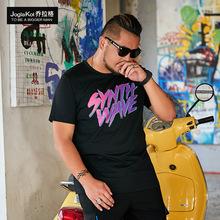 New fashion fat man plus-size Big Code men T-Shirt style alphabet print T shirt
