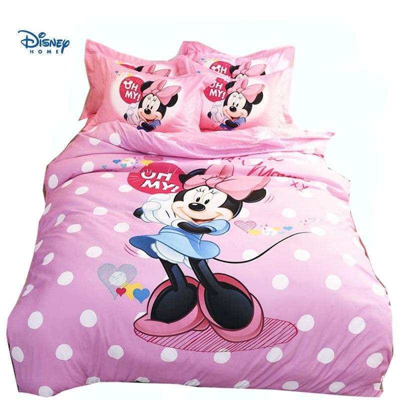 Disney Minnie mouse Mickey consolatore Imposta 3/4/5 Pezzi 3d letto lenzuola Singola Doppia Regina Re Taglie Set Biancheria Da Letto della ragazza dei bambini regalo