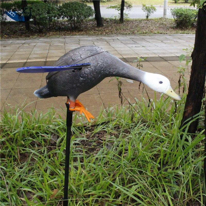ФОТО Xilei Wholesale Dc 6V Decoy Duck Pe Duck Spinning Wings Mallard Decoy Duck Motorized Decoy Duck