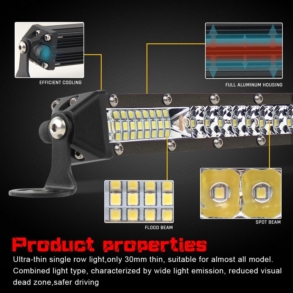 CO светильник 52 Вт 104 Вт 156 Вт 10D супер тонкий внедорожный светодиодный светильник бар точечный прожектор комбинированный луч светодиодный противотуманный светильник для грузовиков трактор УАЗ ATV