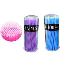 100Pcs/Pack Disposable Makeup Brushes Individual Lash Removing Tools Swab Micro brushes Eyelash Extension