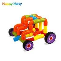 New Hot Brand Plastic Tunnel Building Blocks Bricks Kids Baby Educatinal Toys For Children Boys Girls