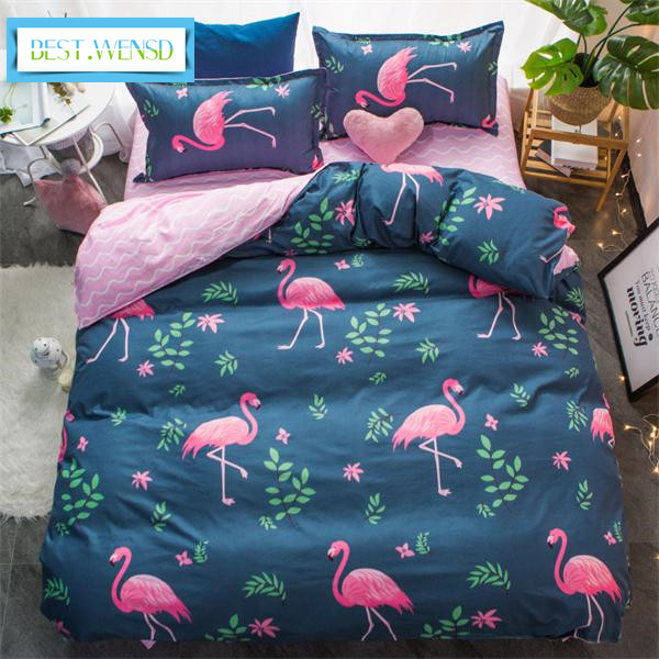 BEST.WENSD wholesale edredon flamingo super soft ultra soft duvet cover king home textile duvet cover bedlinen housse de couette