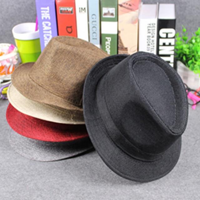 Estilo británico hombres mujeres casquillo del jazz sombrero tacaño Brim  Sombreros de Panamá viaje Sunhat chapeau 3315d28da65