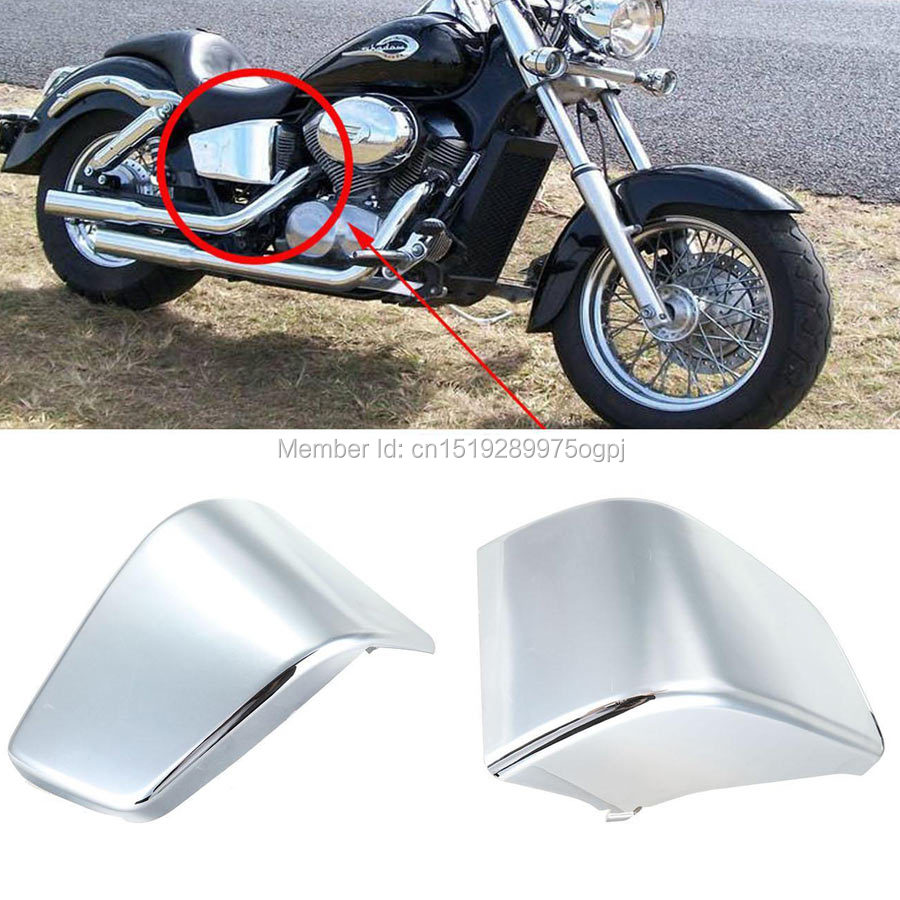 For Honda Chrome Battery Side Fairing Cover Shadow ACE750 VT400 1997-2003 VT 400