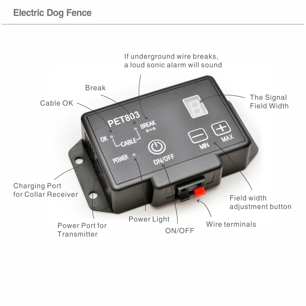 Electric Shock Dog Collar Fence Fencing System Dog Security Fence ...