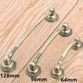 "64mm 96mm 128mm vintage style furniture handles bronze drawer cabinet pull knob antique brass dresser door handle 2.5"" 3.75"" 5"""