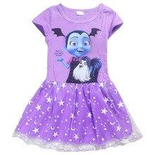 Summer cartoon baby Dresses for Girls Vampirina Clothing Kids