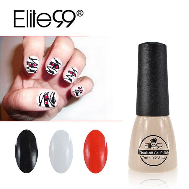 Elite99 3 pcs/ensemble Blanc Noir Rouge Gel Vernis À Ongles 7 ml UV Gel