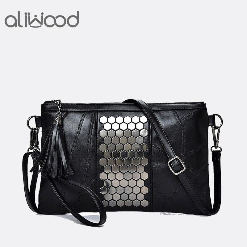 aliwood-women's-genuine-leather-messenger-bags-rivet-clutch-ladies'-shoulder-bag-designer-handbags-tassel-crossbody-bag-for-girl