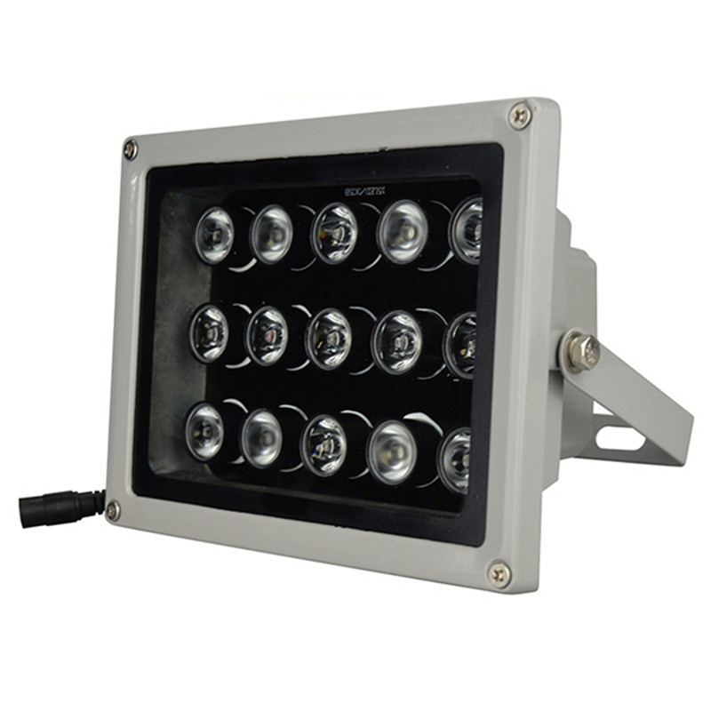 New 12V 15Pcs IR LEDs Array Light Led Infrared Lamp IP65 850nm Waterproof Night Vision for CCTV Camera Outdoor Waterproof Light 56pcs ir led cctv leds ir infrared illuminator 850nm night vision ac 220v ip65 metal waterproof for cctv surveillance camera