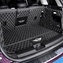 Car trunk protection mat Leather Pad car styling accessories For BMW MINI Cooper S JCW F54 F55 F56 F60 R60 CLUBMAN COUNTRYMAN car trunk folding organizer cargo container box for mini cooper s jcw countryman clubman f55 f56 f60 r55 r56 r60 r61 car styling