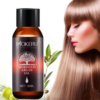 Mokeru 1pc 30ml Natural organic hair serum smoothing dry hair morocco argan oil treatment essential oil for hair growth care