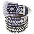 França Eropean EUA Luxo Mulheres Da Moda Cinto de Couro Decorativo Diamante Criativo Jeans Calças Vestido Ocasional Cinto Cinto de Lazer