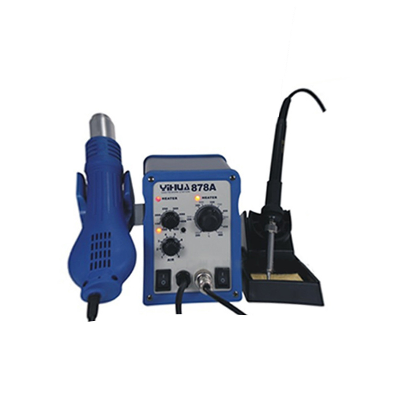 Free Shipping YIHUA 878A 700W Soldering Stations Portable Handheld Temperature Controlled Air Soldering Station Welding Tool