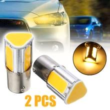 2pcs 12V 1156 Car Rear Signal Light 4 COB LED Car Turn Signal Lamp Bulb Super Bright Amber Yellow Lights цена 2017