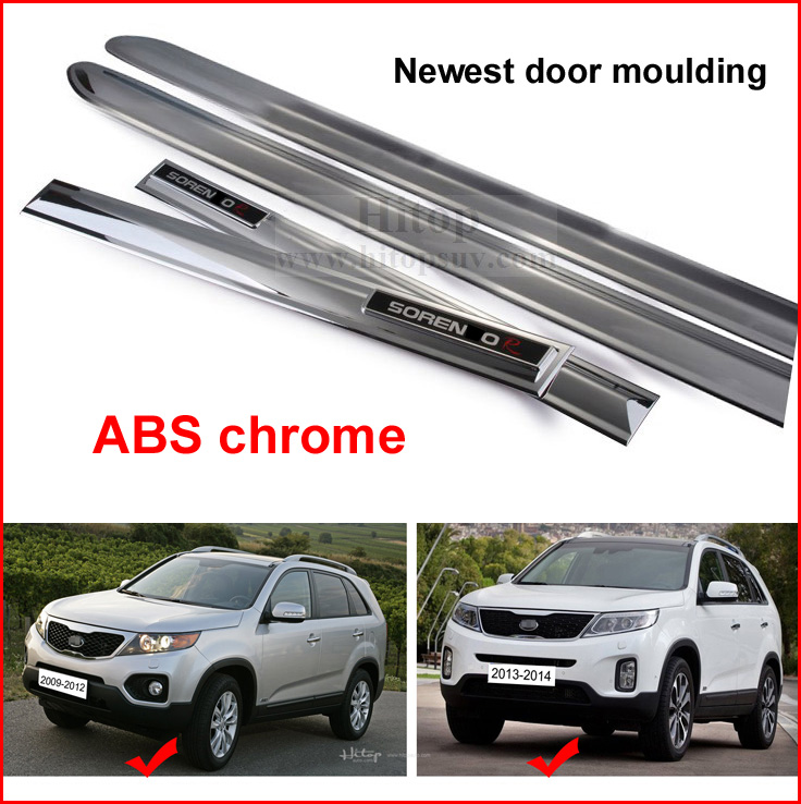 new arrival for KIA Sorento 2009-2014 ABS chrome side door moulding/molding trim,ISO big factory quality,100% satisfied quality